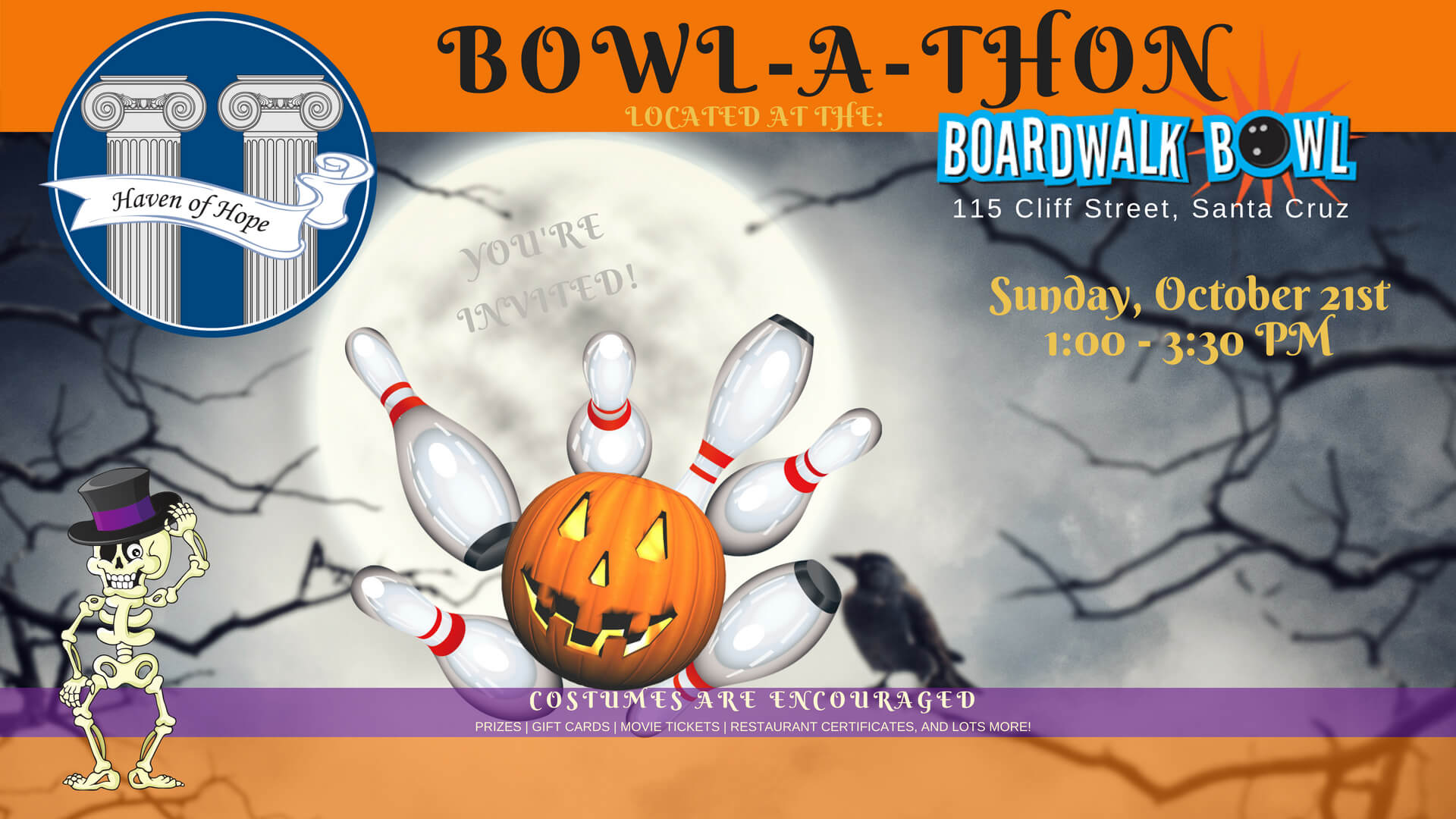 Bowl-a-thon 2018 @ Boardwalk Bowl | Santa Cruz | California | United States